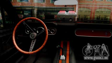 Ford Mustang 1966 Chrome Edition v2 Monster pour GTA San Andreas vue intérieure