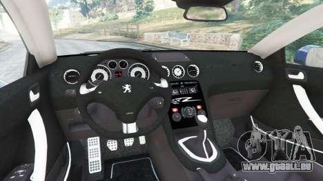 GTA 5 Peugeot RCZ arrière droit vue de côté