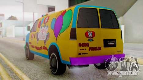 GTA 5 Vapid Clown Van für GTA San Andreas linke Ansicht