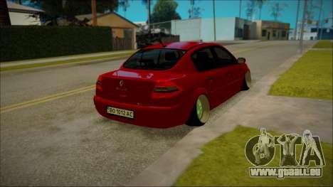 Renault Megane Ukrainian Stance pour GTA San Andreas sur la vue arrière gauche