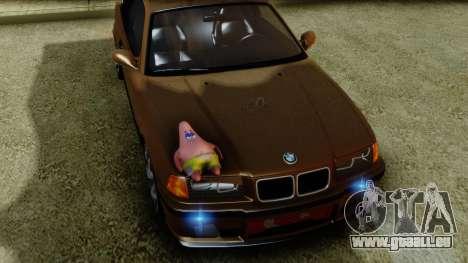BMW M3 E36 SüvariGaragee pour GTA San Andreas vue de droite