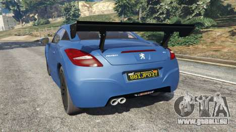 GTA 5 Peugeot RCZ arrière vue latérale gauche