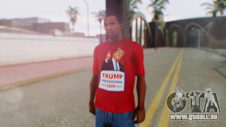Trump for President T-Shirt für GTA San Andreas