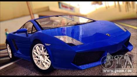 Lamborghini Gallardo LP560 pour GTA San Andreas