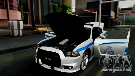 Dodge Charger SRT8 2015 Police Malaysia pour GTA San Andreas vue arrière