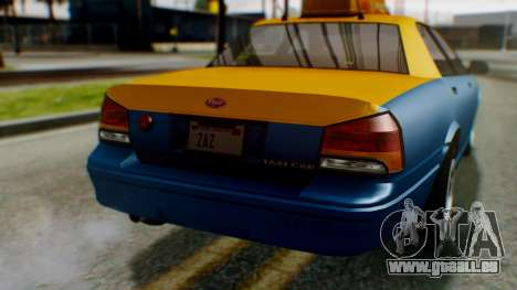 Vapid Taxi für GTA San Andreas Seitenansicht