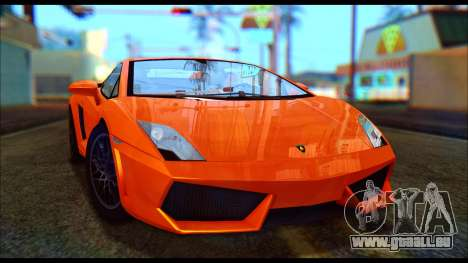 Lamborghini Gallardo LP560 PJ pour GTA San Andreas laissé vue