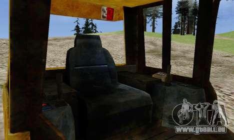 New Dozer pour GTA San Andreas sur la vue arrière gauche
