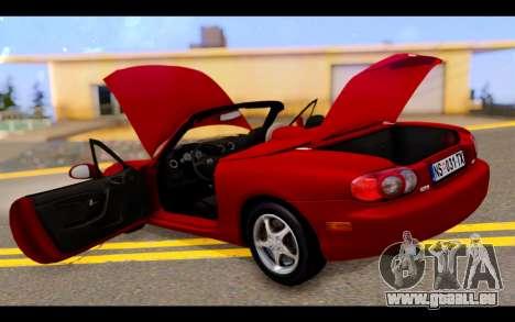 Mazda MX-5 für GTA San Andreas Unteransicht