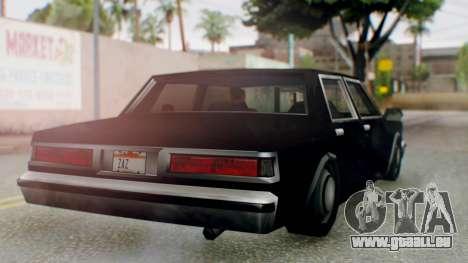 Unmarked Police Cutscene Car Stance für GTA San Andreas rechten Ansicht