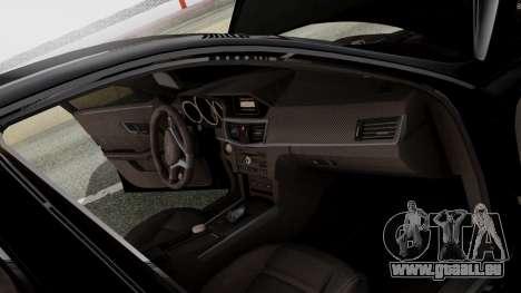 Mercedes-Benz E63 AMG PML Edition pour GTA San Andreas vue de dessous