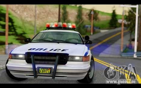 GTA 5 Curie IV White pour GTA San Andreas vue de droite