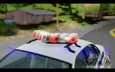 GTA 5 Curie IV White pour GTA San Andreas sur la vue arrière gauche