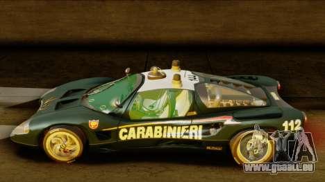 Ferrari P7 Carabinieri pour GTA San Andreas sur la vue arrière gauche