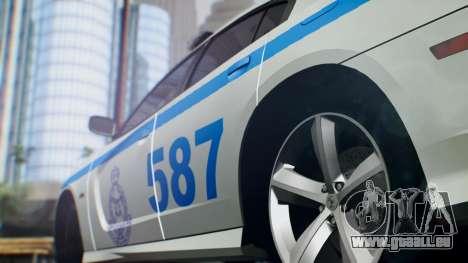 Dodge Charger SRT8 2015 Police Malaysia pour GTA San Andreas sur la vue arrière gauche