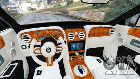 GTA 5 Rolls Royce Ghost 2014 v1.2 arrière droit vue de côté