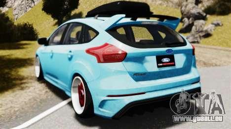 Ford Focus RS 2017 Camber pour GTA 4 est une gauche