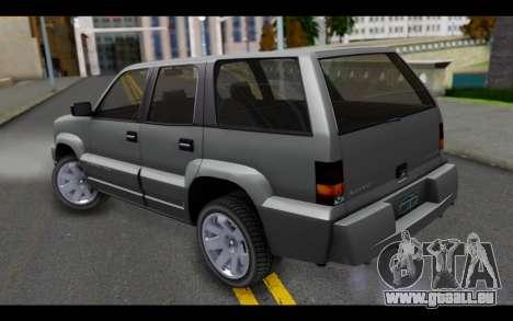 GTA 5 Albany Cavalcade IVF pour GTA San Andreas laissé vue