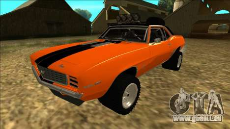 Chevrolet Camaro SS Rusty Rebel pour GTA San Andreas vue de dessus