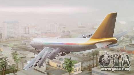Boeing 747-100 The Hawaii Express Jason Everest pour GTA San Andreas laissé vue