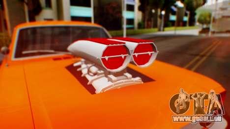 Ford Mustang 1966 Chrome Edition v2 Monster für GTA San Andreas Seitenansicht