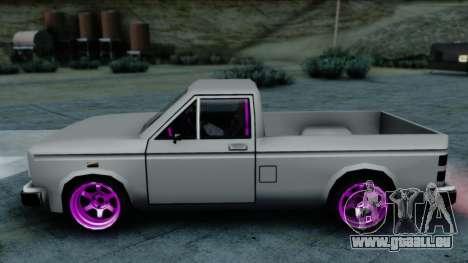Bobcat Drift pour GTA San Andreas sur la vue arrière gauche