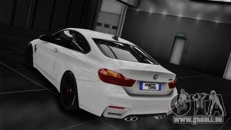 BMW M4 F82 2015 pour GTA 4 Vue arrière de la gauche