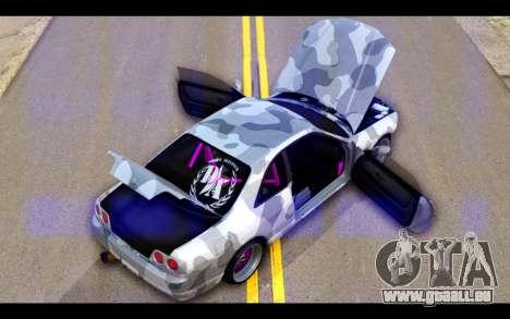 Nissan Skyline R33 Drift für GTA San Andreas Unteransicht