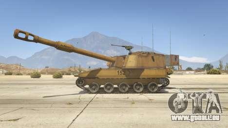 GTA 5 M109 (SAU) Paladin linke Seitenansicht