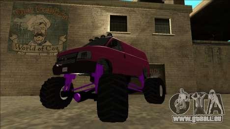 GTA 5 Vapid Speedo Monster Truck für GTA San Andreas zurück linke Ansicht