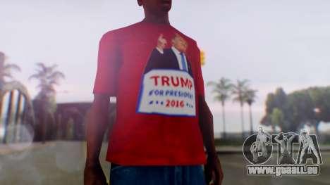 Trump for President T-Shirt pour GTA San Andreas deuxième écran