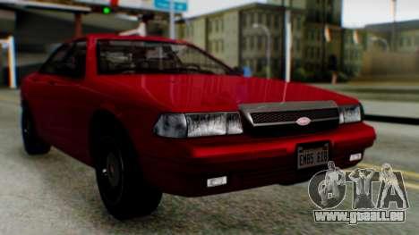 GTA 5 Vapid Stanier II für GTA San Andreas rechten Ansicht