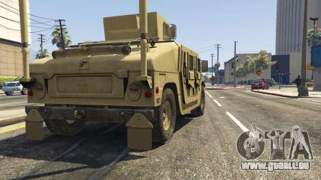GTA 5 M1116 Humvee Up-Armored 1.1 Rückansicht
