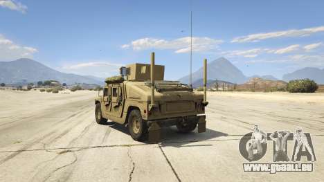 GTA 5 M1116 Humvee Up-Armored 1.1 hinten links Seitenansicht