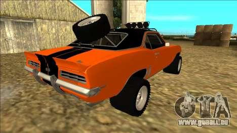 Chevrolet Camaro SS Rusty Rebel für GTA San Andreas Räder