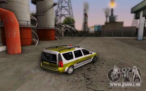 Dacia Logan Emdad Khodro pour GTA San Andreas laissé vue