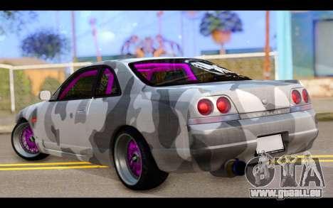 Nissan Skyline R33 Drift pour GTA San Andreas laissé vue