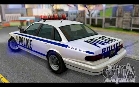 GTA 5 Curie IV White pour GTA San Andreas laissé vue