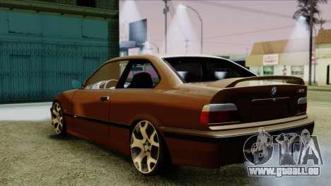 BMW M3 E36 SüvariGaragee pour GTA San Andreas laissé vue