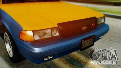 Vapid Taxi pour GTA San Andreas vue arrière