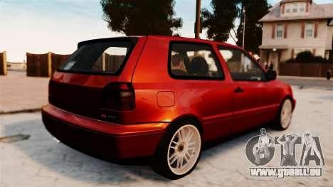 Volkswagen Golf VR6 1998 DTD Tuned pour GTA 4 est une gauche