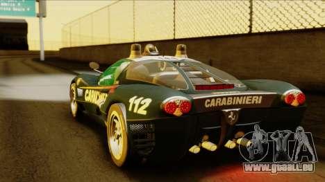 Ferrari P7 Carabinieri pour GTA San Andreas laissé vue