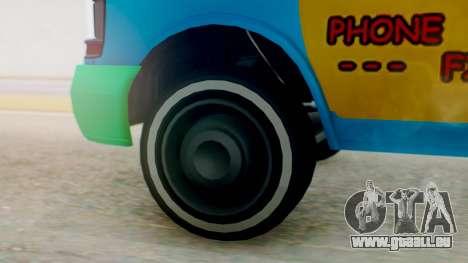 GTA 5 Vapid Clown Van für GTA San Andreas zurück linke Ansicht