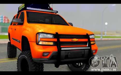 Chevrolet Traiblazer Off-Road für GTA San Andreas Rückansicht