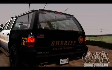 GTA 5 Declasse Sheriff Granger IVF pour GTA San Andreas vue arrière