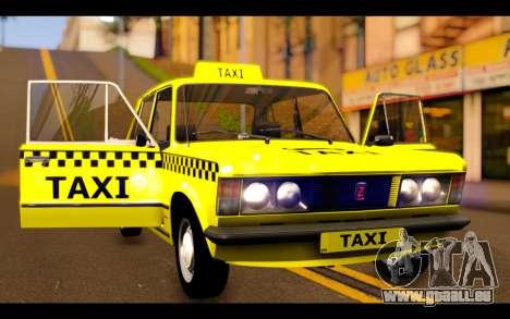 Zastava 125PZ Taxi pour GTA San Andreas vue de côté