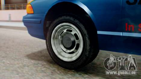 Vapid Taxi with Livery für GTA San Andreas zurück linke Ansicht