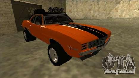 Chevrolet Camaro SS Rusty Rebel pour GTA San Andreas laissé vue