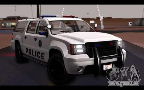 GTA 5 Declasse Sheriff Granger IVF für GTA San Andreas Innen