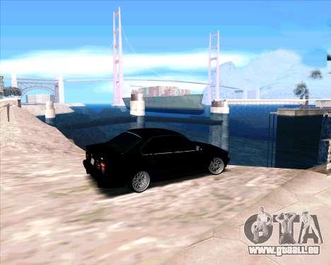 BMW 5-er E34 pour GTA San Andreas sur la vue arrière gauche